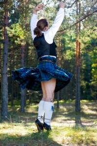 Dancing Man in Scottish Costume © Darkbird77