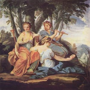Clio, Euterpe et Thalie by Eustache Le Sueur (1616–1655) (courtesy Wikimedia Commons)