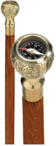Walking Stick Compass image courtesy Design Toscano