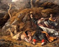 King Lear and the Fool in the Storm by William Dyce (1806 - 1864). Courtesy Wikipedia